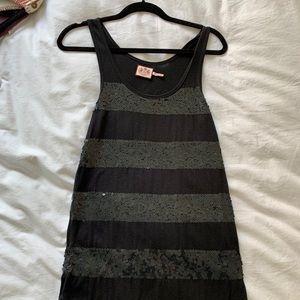 Juicy black dress sequins small